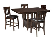 Haddigan Dark Brown 5 Pc. Rectangular Dining Set