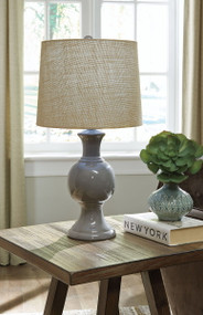 Magdalia Gray Ceramic Table Lamp (1/CN)
