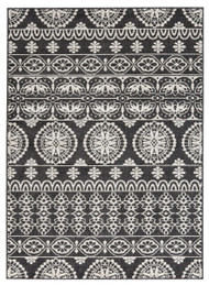 Jicarilla Black/White Large Rug
