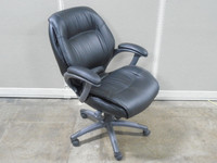 Mayline Ultimo Series Black Leather Executive Chair