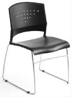 Express Black Stack Chair With Metal Frame