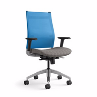 Sit On It Wit Task Chair Blue Back