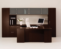 JSI Vision Veneer Executive Desk and Credenza