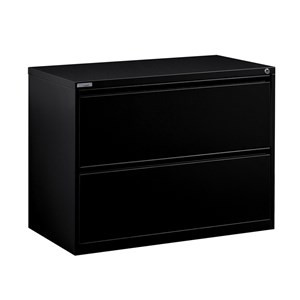 OFD Heavy Duty 2 Drawer Lateral File, Black