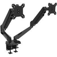 Gas Spring Powered Dual Monitor Arm with USB and Audio Ports