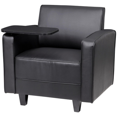 Express BRS Series Black Leather Lounge Chair