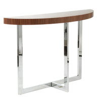 Euro Style Oliver Series Walnut Console Table