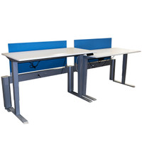 AMQ™ Two Pack of Height Adjustable Tables