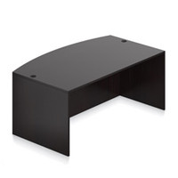 "Offices to Go Espresso Bow Front Desk Shell 71"" x 36/42"" x 29-1/2"""