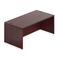 "Offices to Go 72"" Cordovan Rectangular Desk Shell"