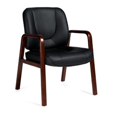 Offices to Go Luxhide Wood Accents Reception / Guest Chair