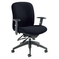 Global Black Truform Medium Back Multi?Tilter Chair