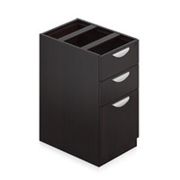 "Offices to Go Espresso Laminate Box/Box/File Pedestal with Lock 22"" x 15"" x 27"""