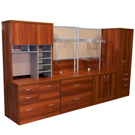 Global Cherry Laminate Storage Wall Unit