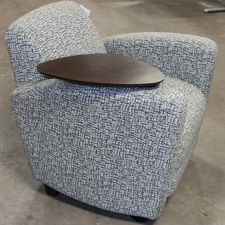 National Reno Series Lounge Chair With Tablet Arm