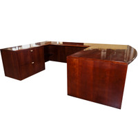 Lundsford Cherry Veneer Right Hand U-Shape Desk