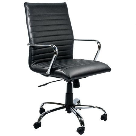 Black Vinyl Segmented Executive Conference Chair