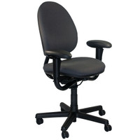 Steelcase Criterion Series Gray Fabric Multi-Function Task Chair