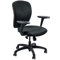 SitOnIt® TR2 Series Black Fabric Task Chair