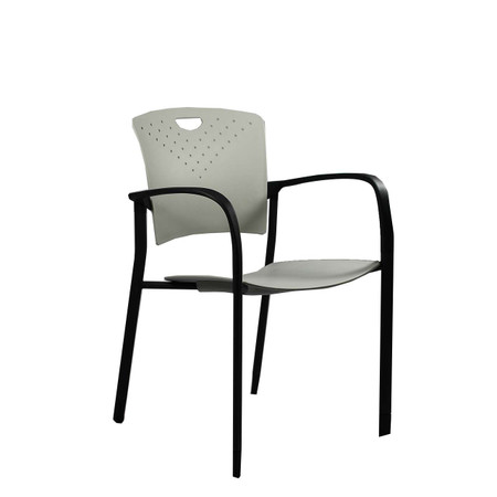Eurotech Grey Stacking Side Chair