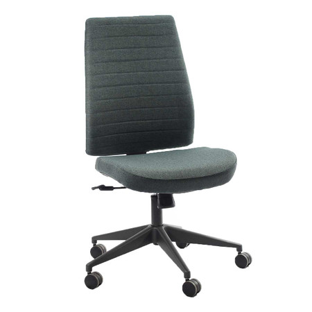 Eurotech Frasso Mid Back Executive Chair Charcoal