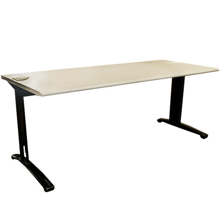 """Steelcase 30"""" x 72"""" Light Grey Training Table With Grommets"""