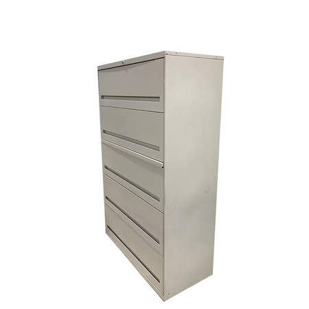Holga Five Drawer Lateral File Gray