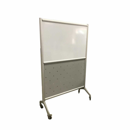 Safco Whiteboard With Perforated Steel On Casters