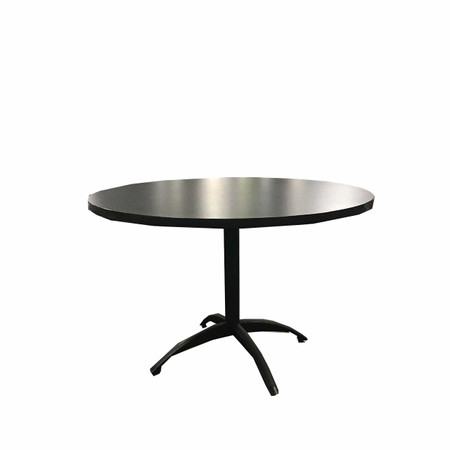 "Steelcase Round Grey 44"" Break Room Table"