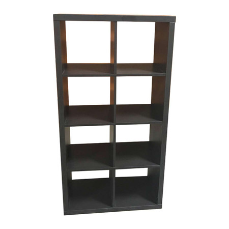 "30"" x 60"" Black Open Storage Shelf"