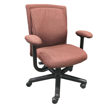 Steelcase Maroon Pattern Upholstered Task Chair
