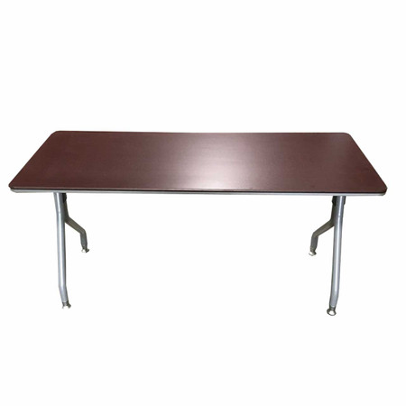 "Global Bungee 60"" Training Table With Silver Legs"