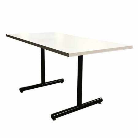 "60"" White Training Table With Black Base"