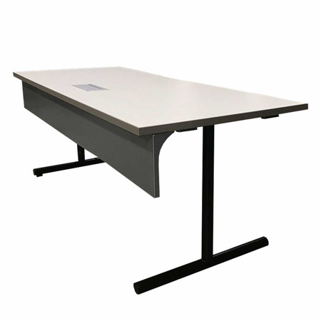 """72"""" Off-White Training Table With Data Box"""