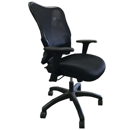 Black Mesh Back Task Chair With Lumbar Support