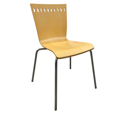 Clear Design Maple Turret Series Bistro Cafe Bar Stool