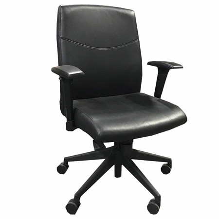 Highmark Black Faux Leather Midback Task Chair