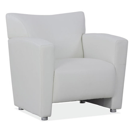 COE Tribeca Series Club Chair Featured In White