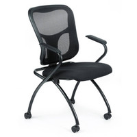 Eurotech Flip Nesting Multi-Purpose Chair In Black With Arms
