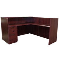 Eurotech Mahogany Laminate Reception Desk