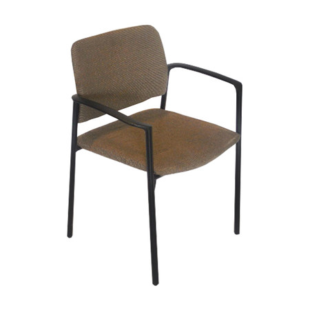 Kimball Event Series Grey Stack Chair with Black Arms