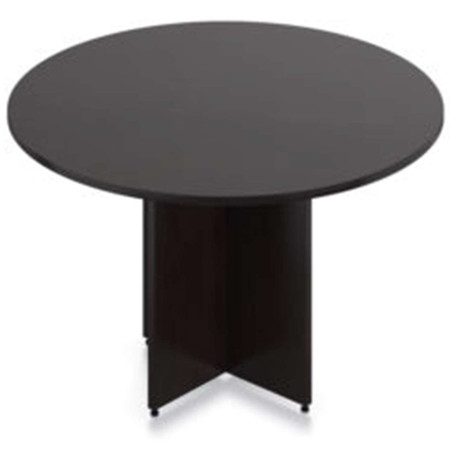 "Express 47"" Round Table Featured In Dark Walnut"