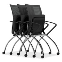 Mayline Valore Series High Back Multi-Purpose Chair Featured In Red