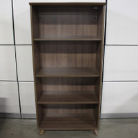 COE Sienna Series Bookcase Without Doors Featured In Coastal Grey