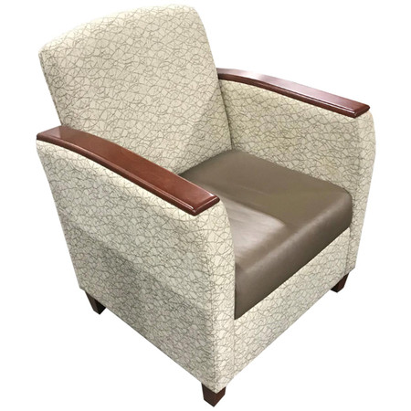 Global Orion Series Lounge Chair With Wood Accents