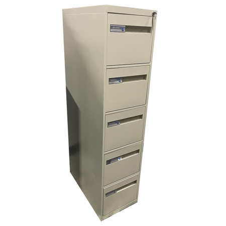 Global 2800 Series Five Drawer Vertical File In Putty Finish