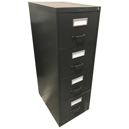 Global Charcoal Grey Four Drawer Vertical File