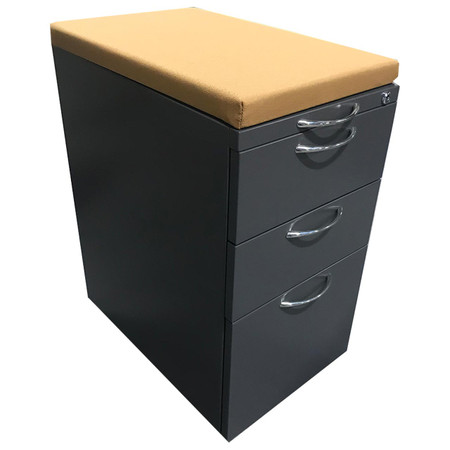 AIS Mobile Box Box File Pedestal With Optional Upholstered Pillow Topper