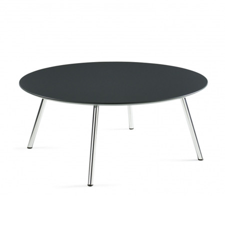 "Global Wind Series 36"" Round Coffee Table With Chrome Legs"