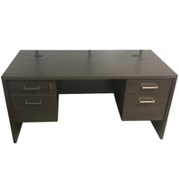 James Edwards Double Pedestal Desk In Sunset Cruise Finish